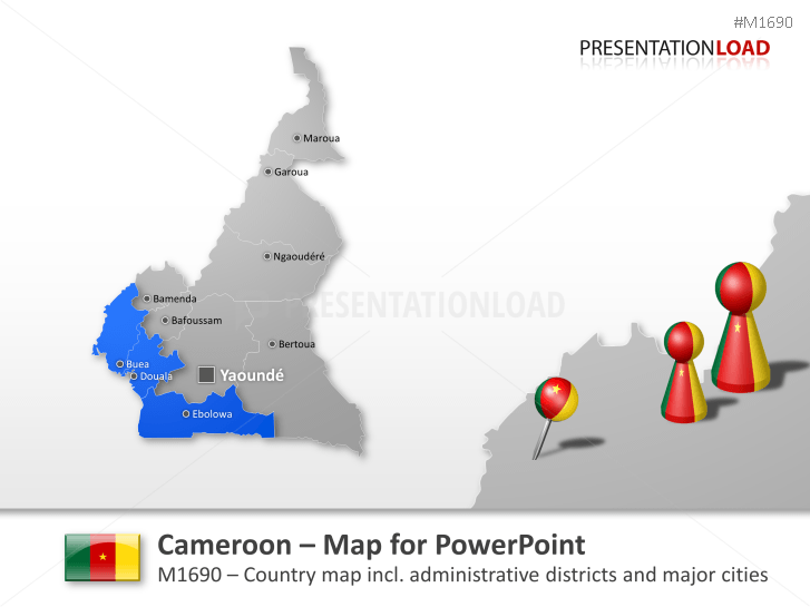 Camerún _https://www.presentationload.es/map-cameroon-1.html