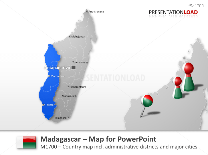 Madagascar _https://www.presentationload.es/map-madegascar-1.html