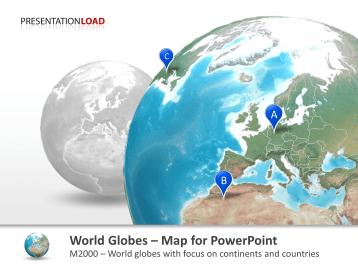 Série de globes - Pays