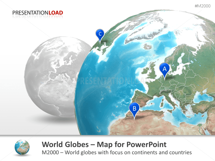 World Globes - with countries _http://www.presentationload.com/world-globes-countries.html