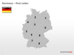 Germany - Post Code 2-digit _https://www.presentationload.com/map-germany-zip-2digit.html