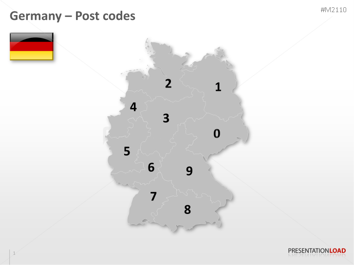 Powerpoint maps of germany presentationload germany post code 2 digit httpspresentationload toneelgroepblik