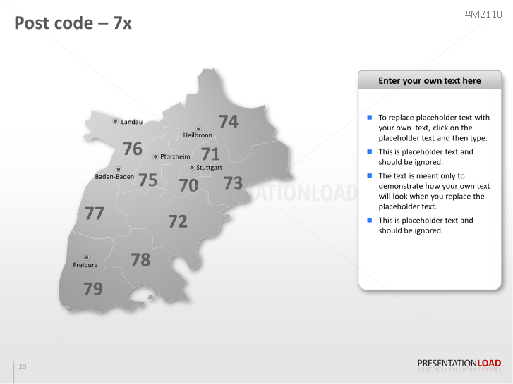 PowerPoint Map Germany with ZIP (2 Digits) | PresentationLoad