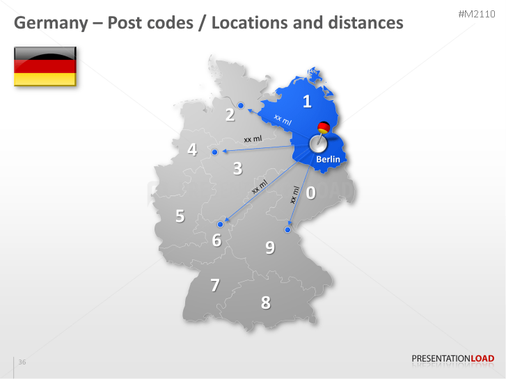 PowerPoint Map Germany with ZIP 2 Digits  PresentationLoad