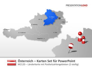 Österreich - PLZ (2-stellig) _https://www.presentationload.de/powerpoint-landkarten/laender-europa/oesterreich/Oesterreich-PLZ-2-stellig.html