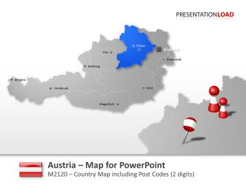 Austria Post Codes 2-digit _https://www.presentationload.com/en/powerpoint-maps/countries-europe/austria/Austria-Post-Codes-2-digit.html