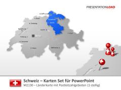 Schweiz - PLZ (1stellig) _https://www.presentationload.de/landkarte-schweiz-plz-1stellig.html
