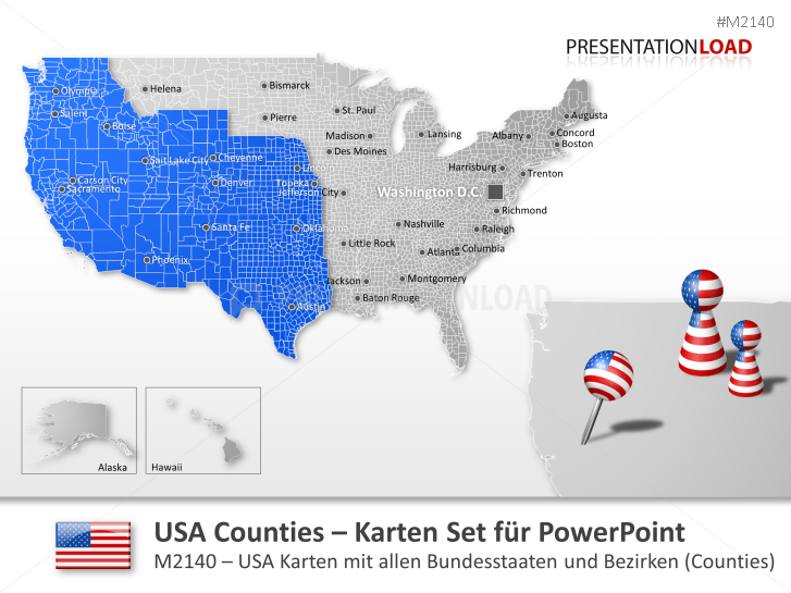 USA - Counties _https://www.presentationload.de/landkarte-usa-counties.html