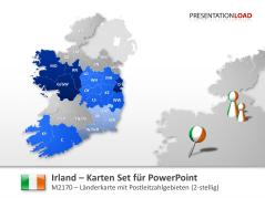 Irland - PLZ (2-stellig) _http://www.presentationload.de/landkarte-irland-plz.html