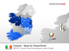 Ireland - Post Codes 2-digit _https://www.presentationload.com/map-ireland-zip-2digit.html