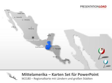 Mittelamerika _https://www.presentationload.de/powerpoint-landkarten/kontinente/Mittelamerika.html