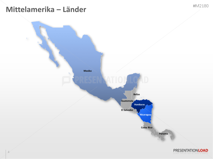 Mittelamerika Karte Staaten.Powerpoint Landkarte Mittelamerika Presentationload