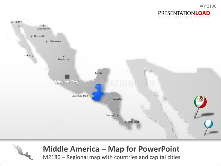Central America _https://www.presentationload.com/map-central-america.html