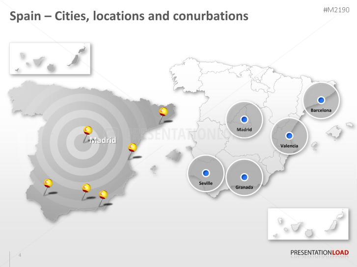 PowerPoint Map Spain with ZIP | PresentationLoad