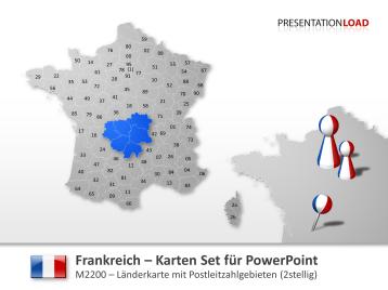 Frankreich - PLZ (2-stellig) _https://www.presentationload.de/landkarte-frankreich-plz.html