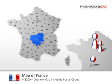 France - Post Codes 2-digit _https://www.presentationload.com/map-france-zip-2digit.html