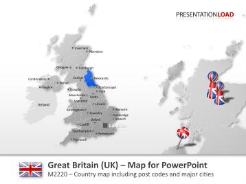 Great Britain (UK) - Post Code 2-digit _https://www.presentationload.com/map-great-britain-zip-2digit.html