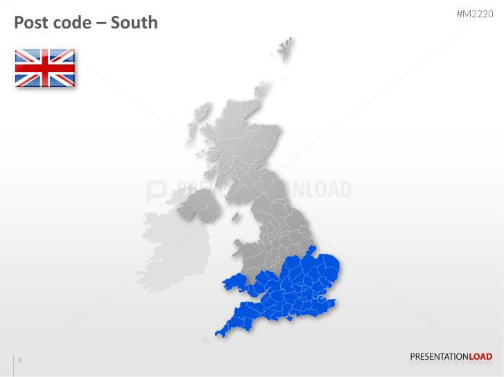 Map Of Uk For Powerpoint.Powerpoint Map United Kingdom Uk With Zip Presentationload