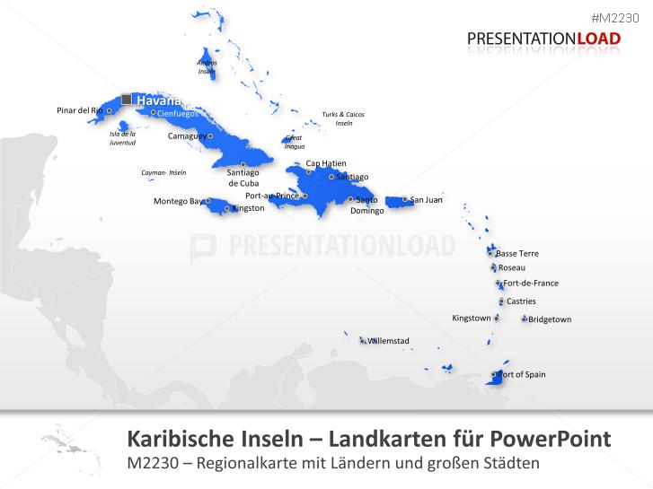 Karibische Inseln _https://www.presentationload.de/landkarte-karibische-inseln.html