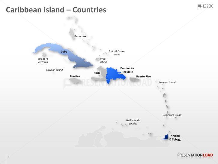 powerpoint map caribbean islands presentationload
