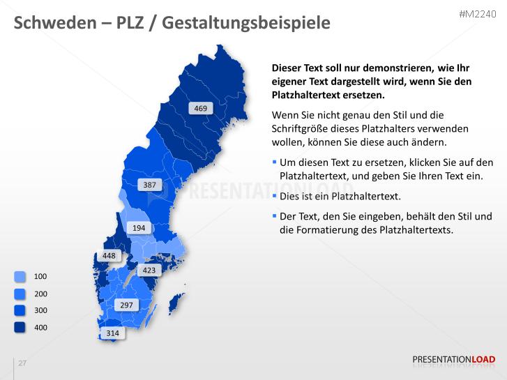 Karte Schweden Regionen.Powerpoint Landkarte Schweden Mit Plz Presentationload