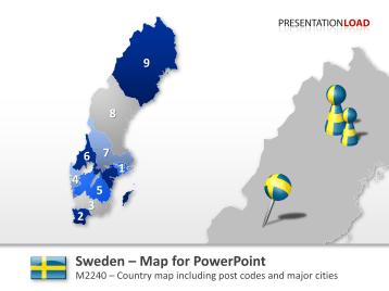 Sweden - Post Codes 2-digit _https://www.presentationload.com/map-sweden-zip-2digit.html
