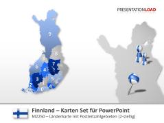 Finnland - PLZ (2-stellig) _https://www.presentationload.de/landkarte-finnland-plz.html