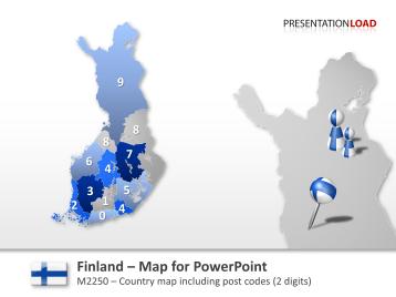 Finland - Post Codes 2-digit _https://www.presentationload.com/map-finland-zip-2digit.html