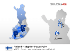 Finland - Post Codes 2-digit _https://www.presentationload.com/map-finland-zip-2digit.html