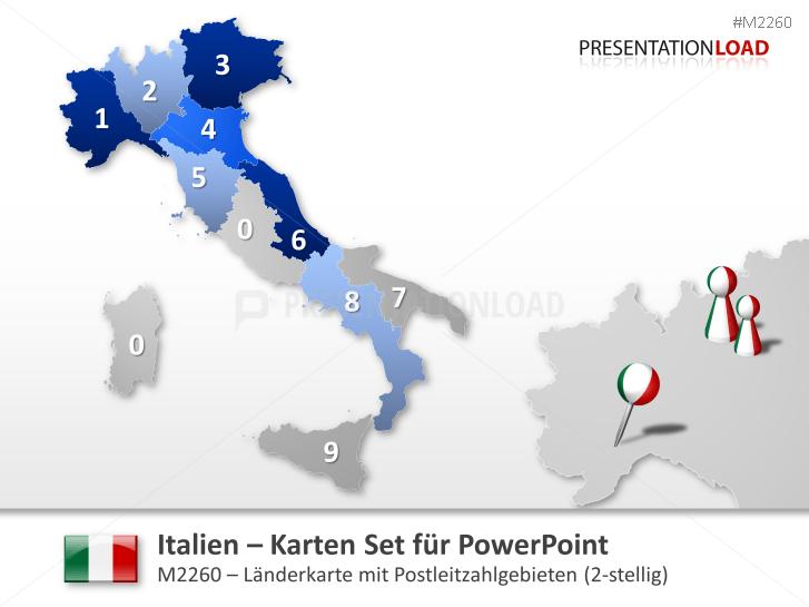 Italien - PLZ (2-stellig) _http://www.presentationload.de/landkarte-italien-plz.html