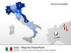 Italy - Post Codes 2-digit _https://www.presentationload.com/map-italy-zip-2digit.html