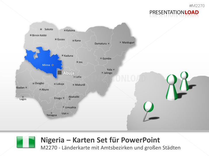 Nigeria _https://www.presentationload.de/landkarte-nigeria.html