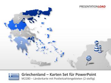 Griechenland - PLZ (2-stellig) _https://www.presentationload.de/landkarte-griechenland-plz.html
