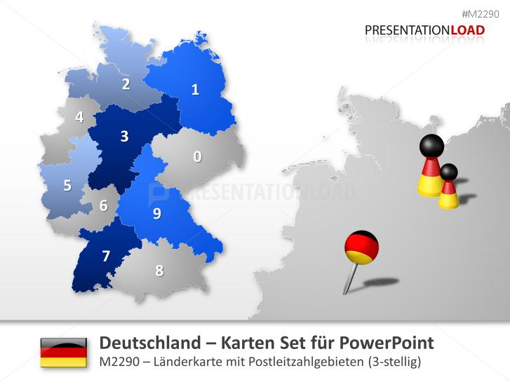 Deutschland - PLZ (3-stellig) _http://www.presentationload.de/landkarte-deutschland-plz-3stellig.html