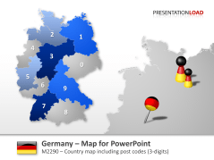 Germany - Post Code 3-digit _https://www.presentationload.com/map-germany-zip-3digit.html