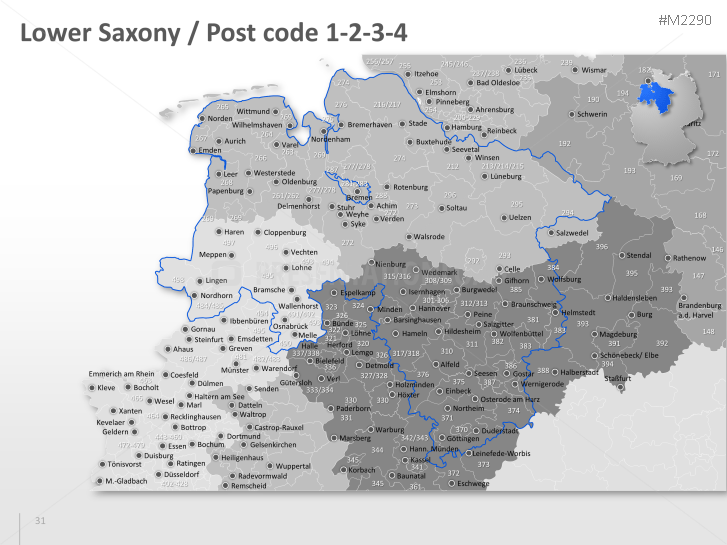 Free 3 Digit Zip Code Map By State.Powerpoint Map Germany With Zip 3 Digits Presentationload