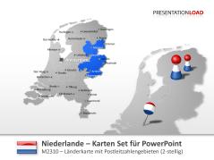 Niederlande - PLZ (2-stellig) _https://www.presentationload.de/landkarte-niederlande-plz-2stellig.html
