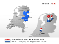 Netherlands - Post Code (2Digits) _https://www.presentationload.com/map-netherlands-zip-2digits.html