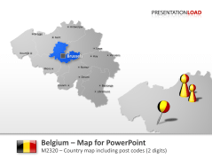 Belgium - Post Code (2Digits) _https://www.presentationload.com/map-belgium-zip-2digits.html