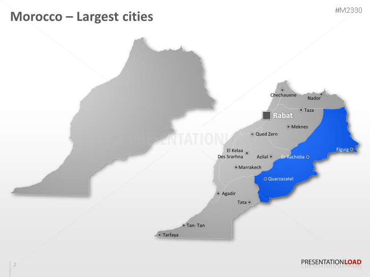 PowerPoint Map Morocco PresentationLoad