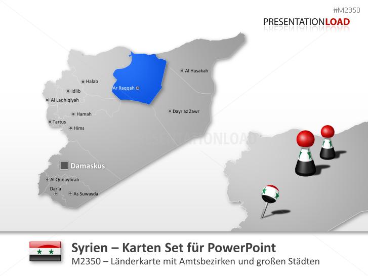Syrien Karte Mit Städten.Presentationload Syrien