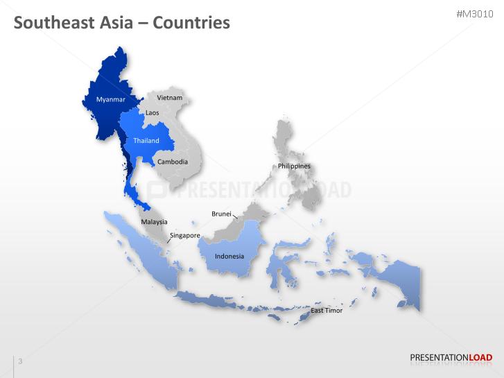 powerpoint map southeast asia presentationload
