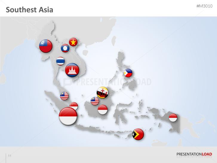 PowerPoint Map Southeast Asia | PresentationLoad