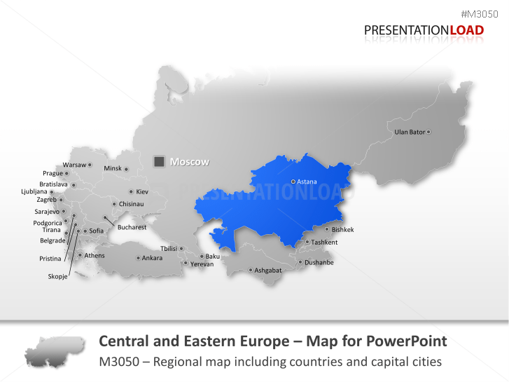 PowerPoint Map Central and Eastern Europe | PresentationLoad