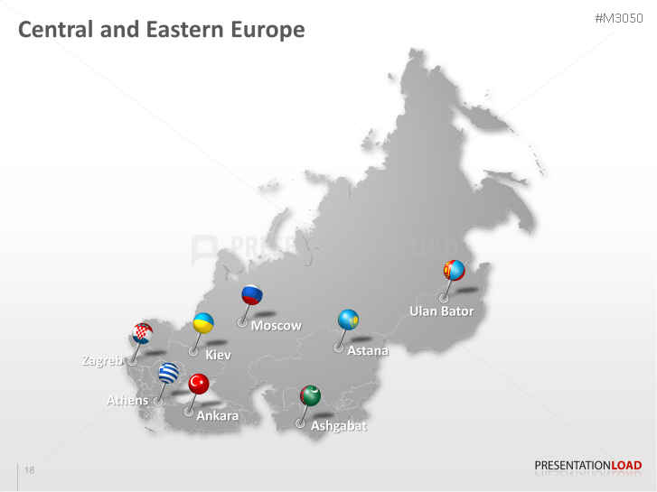 powerpoint map central and eastern europe presentationload