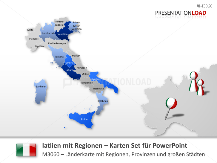 Nord-, Zentral-, Süd- Italien _https://www.presentationload.de/landkarte-nord-zentral-sued-italien.html