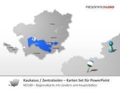 Kaukasus & Zentralasien _https://www.presentationload.de/landkarte-kaukasus-zentralasien.html