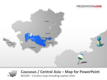 Caucasus and Central Asia _https://www.presentationload.com/map-caucasus-central-asia.html