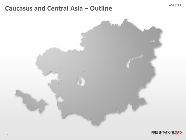 PowerPoint Map Caucasus and Central Asia | PresentationLoad