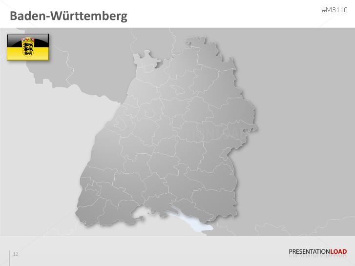 Karte Baden Württemberg Kostenlos.Powerpoint Landkarte Baden Württemberg Presentationload
